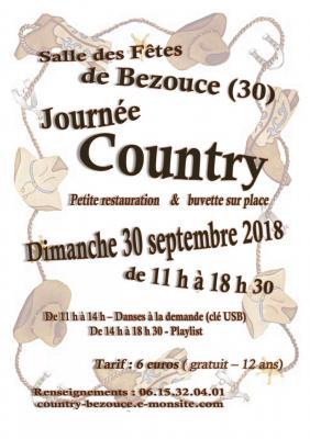 Affiche journée Country 30 sept 2018