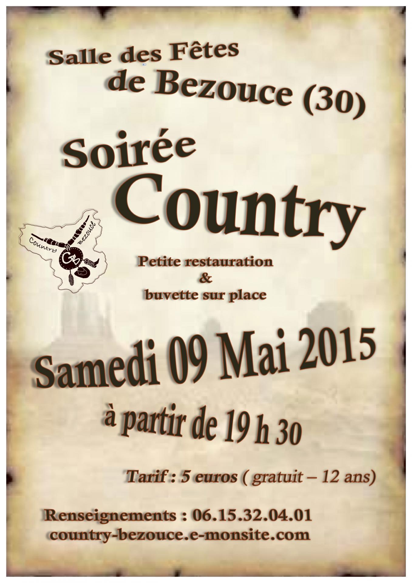Affiche soire e country 09 mai 2015